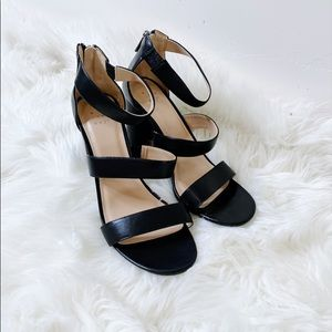 A NEW DAY Black Strapped Chunky Heeled Sandals